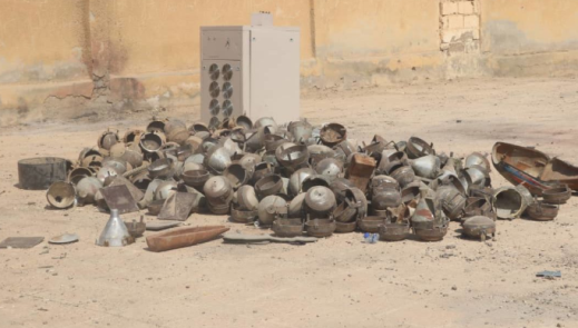 ISIS's IEDs and mines found in the workshop (SDF Press, October 1, 2019)