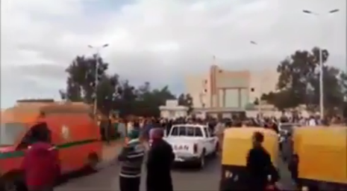 An ambulance evacuating the wounded from the scene of the attack (YouTube video, September 27, 2019)