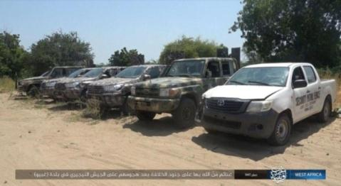 Nigerian army weapons and vehicles seized by ISIS operatives (Telegram, October 1, 2019)