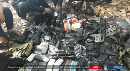Weapons and ID documents of Moro Islamic Liberation Front fighters seized by ISIS operatives (Telegram, October 5, 2019)