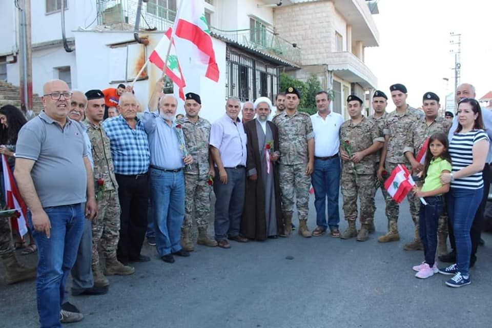 Partnership with the state of Lebanon – procession marking Lebanon's Army Day in the village of Mashghara (Facebook page of the Municipal Activity, August 3, 2019)