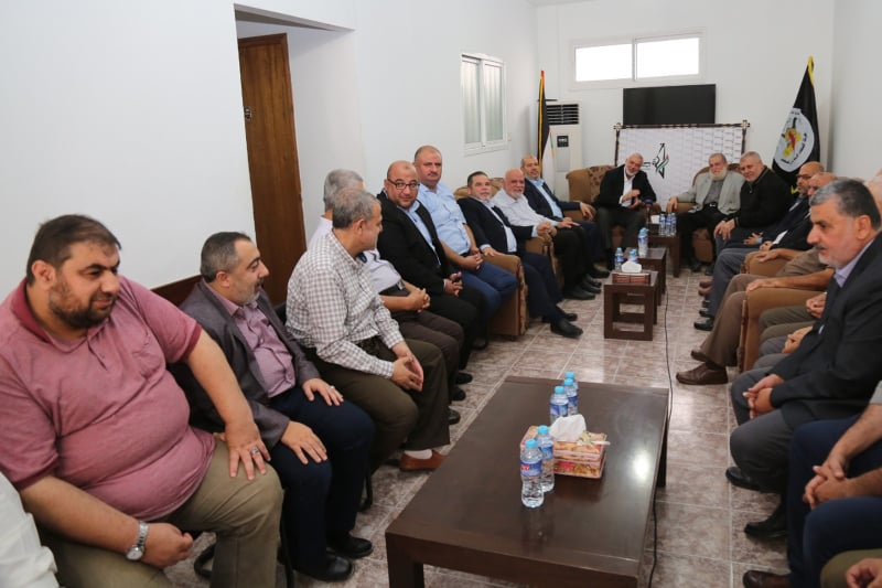 Isma'il Haniyeh heads a delegation of the Hamas leadership to the PIJ leadership (Filastin al-A'an Twitter account, October 8, 2019).