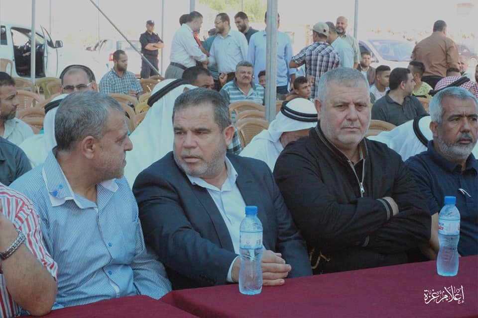 Hamas and PIJ figures at the inauguration of the park (Supreme National Authority Facebook page, October 10 and 13, 2019).