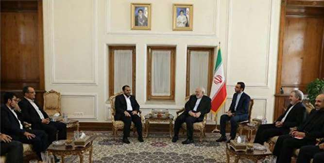 The meeting between the spokesman of the Houthis of Yemen and Iranian foreign minister (ISNA, October 26, 2019)