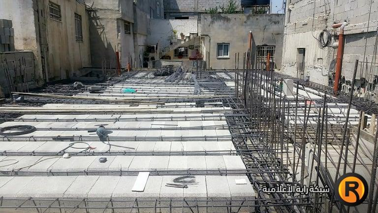 Rebuilding the Abu Hamid house in the al-Am'ari refugee camp in Ramallah (Raya News website, September 2, 2019).