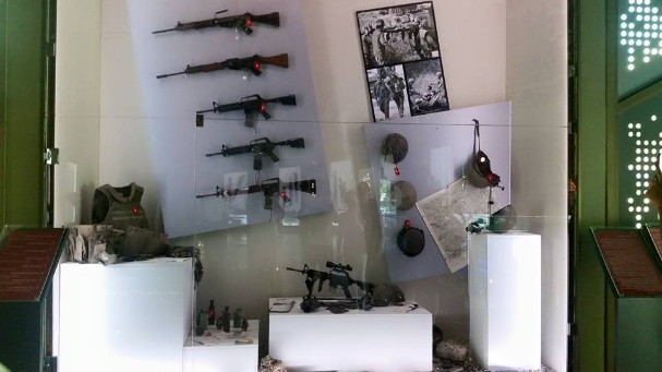 Exhibition of weapons seized from the IDF (Facebook)