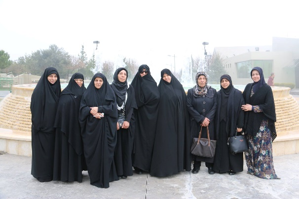 Delegation of women belonging to the Iranian Supreme Leader's Office (engaged in religious questions and answers for women) visiting Mleeta (Facebook page of Mleeta, March 13, 2018).