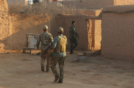 Popular Mobilization operatives during a security operation, in which three ISIS guesthouses were found in the area of Baqubah (al-hashed.net, October 31, 2019)