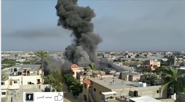 Attack on the house of the Abu Hadayid family in northern Rafah. Abu Hadayid is an operative in the Jerusalem Brigades' rocket unit and his house serves as a weapons storehouse (QudsN Facebook page, November 13, 2019, IDF spokesman; November 13, 2019).
