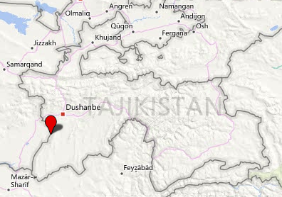 The area in Tajikistan where the attack took place (Bing Map).