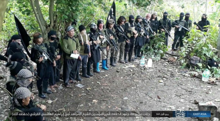 Operatives of ISIS's East Asia Province (apparently, in the Philippines) pledging allegiance to ISIS's new leader (Telegram, November 9, 2019)