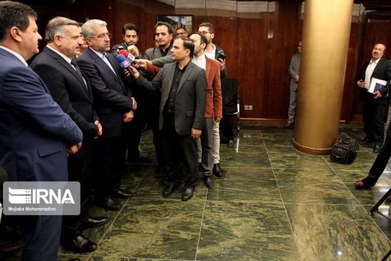The Iranian minister of energy and Syrian minister of electricity during a joint press conference (IRNA, November 2, 2019)