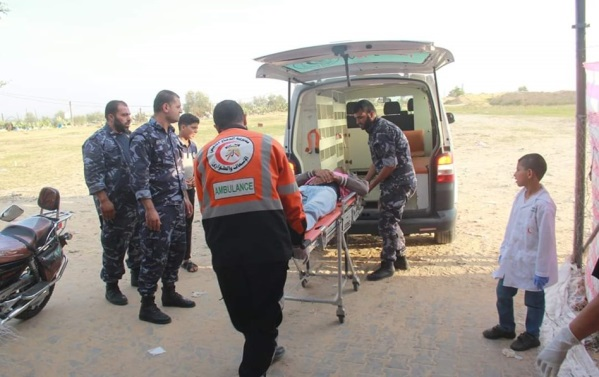 Operatives of Hamas' security services direct Palestinians to the events and help evacuate the wounded (website of the ministry of the interior in the Gaza Strip, November 8, 2019).