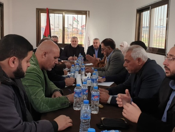 Supreme National Authority meeting in eastern Gaza City (Twitter account of Russia Today correspondent, November 26, 2019).