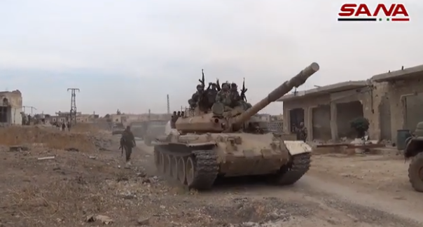 Syrian forces in the villages they took over in the Mushayrafa area (SANA, November 25, 2019)