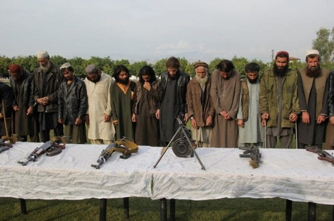 ISIS operatives who surrendered to the Afghan forces (Khaama Press, November 26, 2019)