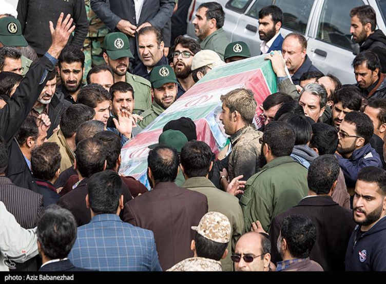 The funeral of the basij fighter killed in Syria, held in the city of Khorramabad in Lorestan province (Tasnim, November 24, 2019)
