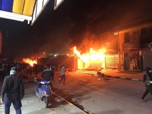 The torching of the Iranian consulate in Najaf (IRNA, November 28, 2019)