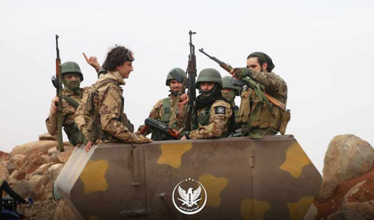 Operatives of the National Liberation Front on their way to A'jaz, one of the villages which the rebel organizations attempted to take over from the Syrian army (Enab Baladi, November 30, 2019)