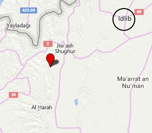 The Kabanah area where Syrian army attempted attacks were repelled (Bing Map)