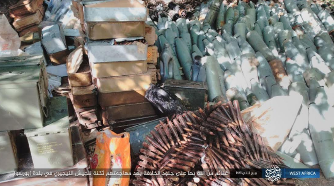 Nigerian army weapons and ammunition seized by ISIS (Telegram, November 29, 2019)