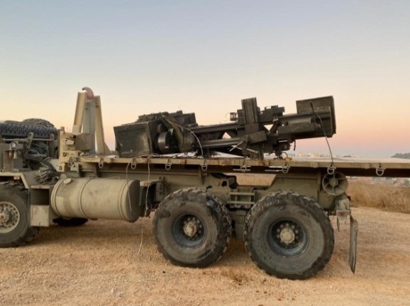 Lathe seized in the town of Dhahiriya (southwest of Hebron) during an Israeli security force activity (IDF spokesman's Twitter account, December 5, 2019).