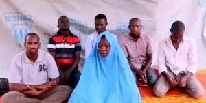 The six abductees as they appeared in a video released by the kidnappers after the abduction (RootsTV Nigeria, July 25, 2019).