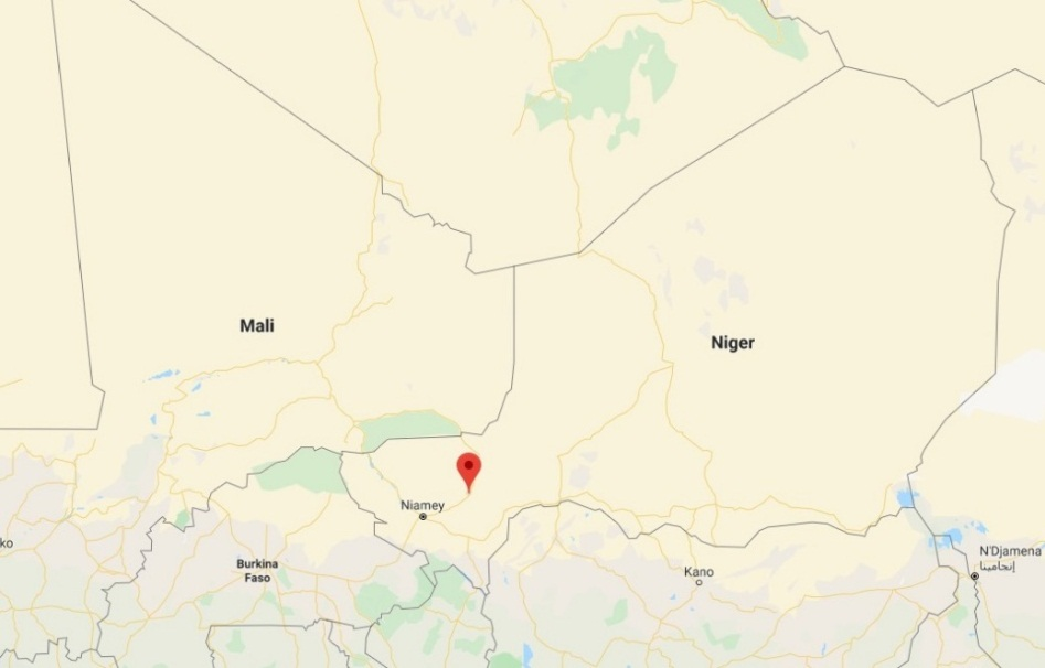 The town of Inates, where the Niger army camp was attacked (Google Maps)
