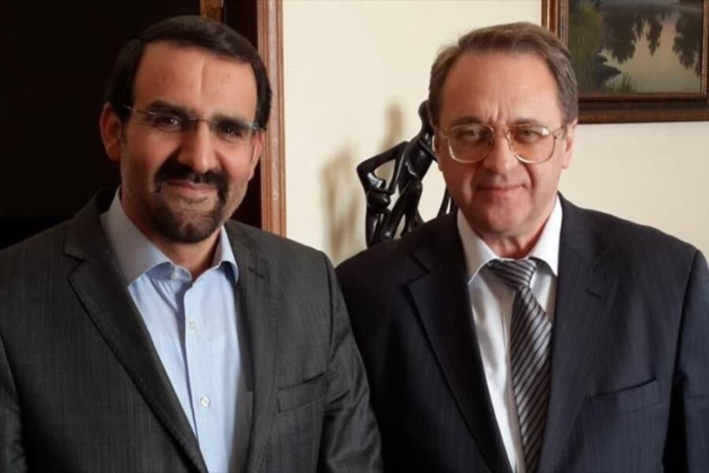 The farwell meeting with the departing Iranian ambassador to Russia with the Russian deputy minister (IRNA, December 18, 2019).