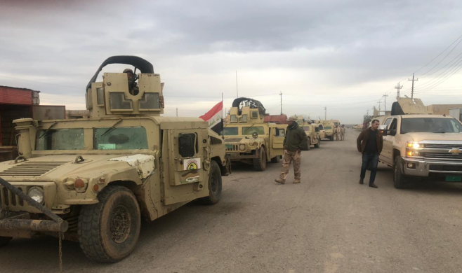 Iraqi army forces in the Salah al-Din Province (Facebook account of the Iraqi Ministry of Defense, December 30, 2019).