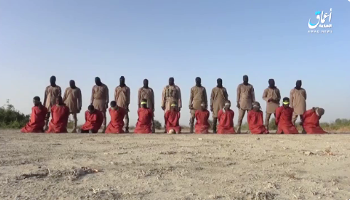 Documentation of the execution of 11 Nigerian Christians taken prisoner by ISIS (Telegram, December 26, 2019