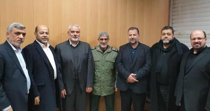 The Hamas delegation meets with Esmail Ghaani, the new commander of the IRGC's Qods Force (al-Mayadeen TV Twitter account, January 6, 2020; Mehr News Agency in Arabic, January 6, 2020).