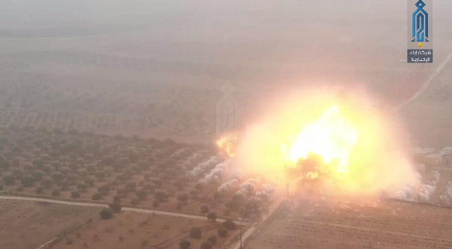 The explosion of the second car bomb (Ibaa, January 2, 2020)