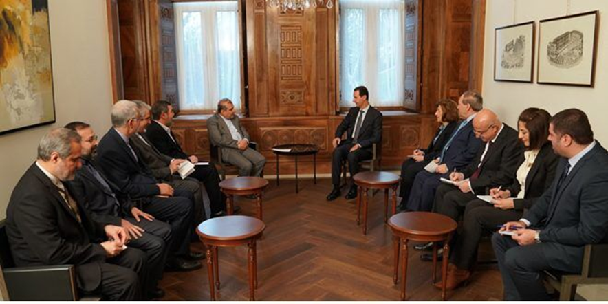The meeting between President Assad and the senior adviser to the Iranian minister of foreign affairs (IRNA, December 31, 2019)