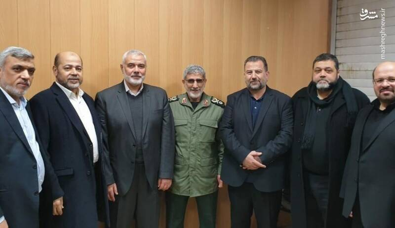 The meeting of the Hamas delegation with the incoming Qods Force commander (Mashreq News, January 6, 2020)
