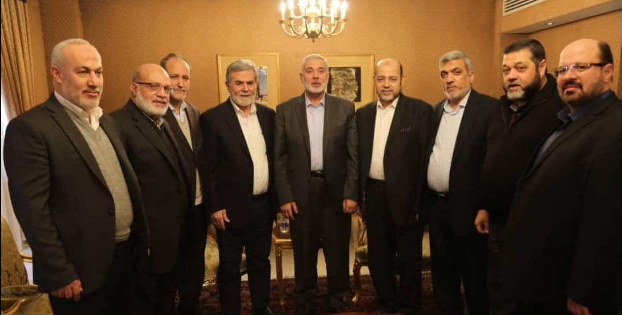 The Hamas and PIJ delegations that attended Qassem Soleimani's funeral in Tehran (Paltoday, January 8, 2020).