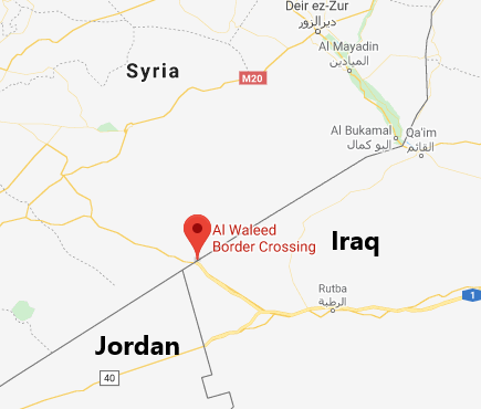 Al-Walid crossing, between Iraq and Syria (Google Maps)