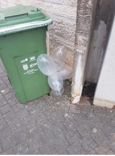 A cluster of IED balloons neutralized in Sderot (Israel Police Force spokesman's unit, January 20, 2020).