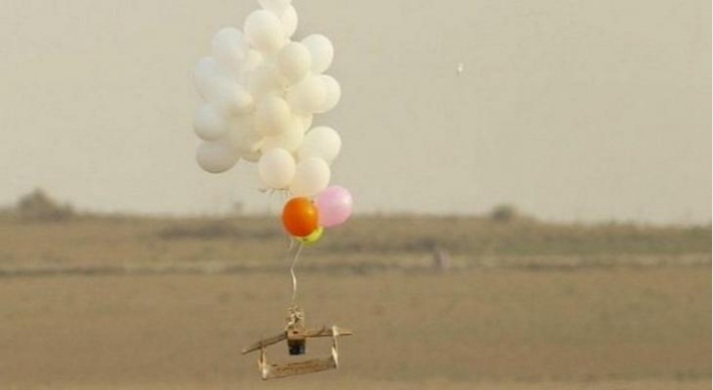 Launching EID balloons from the Gaza Strip into Israeli territory (Ghaza al-An, January 17, 2020).