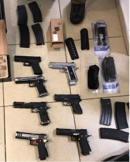 Some of the weapons found in recent weeks by the Israeli security forces (IDF spokesman, January 21, 2020).