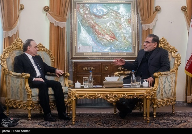 The meeting between the Syrian prime minister and the secretary of the Iranian Supreme National Security Council (Tasnim, January 13, 2020)