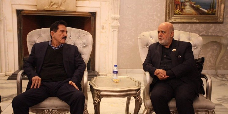 The meeting between the Iranian ambassador to Iraq with a senior official in the Kurdistan region of Iraq (Fars, January 14, 2020).