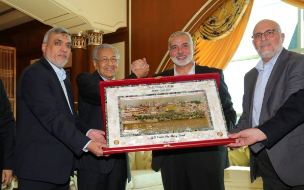 The Hamas delegation meets with the Malaysian prime minister (Hamas website, January 22, 2020).