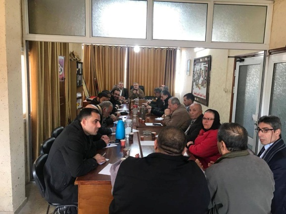 Meeting of the Supreme National Authority of the Great Return March (Facebook page of Gazan journalist Hassan Aslih, January 27, 2020).