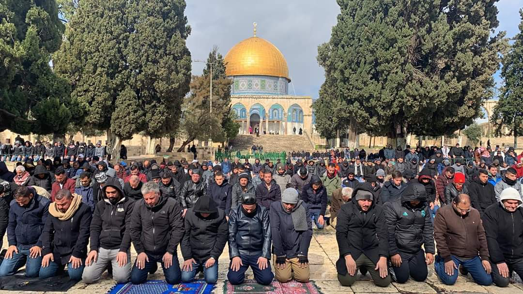 the Friday prayer on the Temple Mount (Palinfo Twitter account, January 24, 2020).