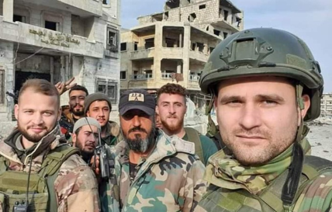Syrian soldiers in the city (Khotwa, January 28, 2020)