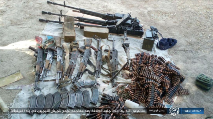 Weapons, ammunition, and vehicles seized by ISIS operatives in the attack on the Nigerian army (Telegram, January 22, 2020)