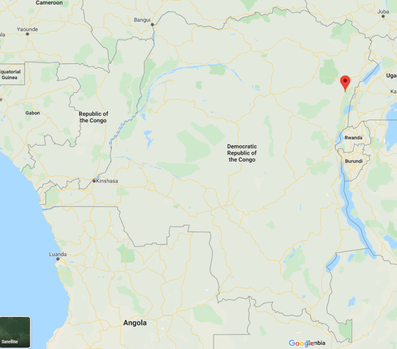 The area of Beni, in northeastern Congo, ISIS's main center of activity (Google Maps)