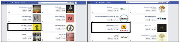 More Likes from Hajj Zuhair Nahle's Facebook page: Outlined: right, the Amana gas station network, owned by Hezbollah's Shaheed Foundation.[18] Left: Hezbollah's Association of Municipal Activity in the second region in south Lebanon, north of the Litani River.