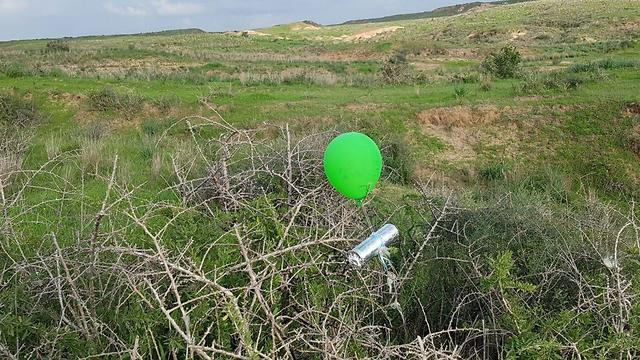 An IED balloon found in the western Negev (western Negev security, February 3, 2020).